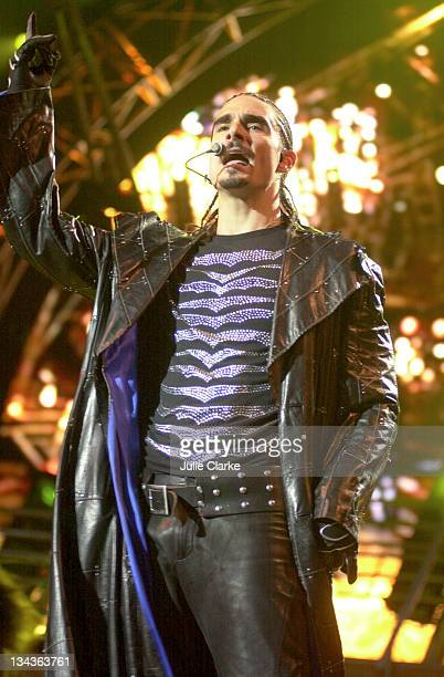 Kevin Richardson of Backstreet Boys during Backstreet Boys in Concert San Bernardino at San Bernardino in San Bernardino California United States