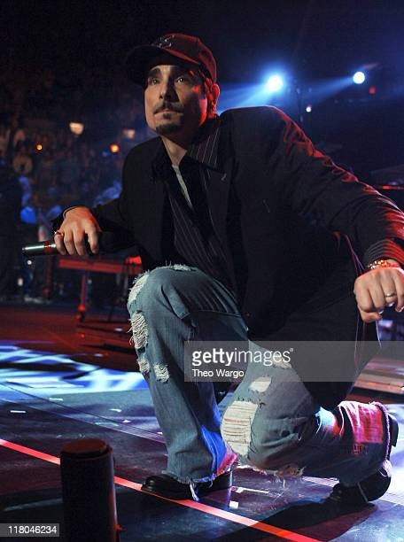 Kevin Richardson of The Backstreet Boys during Z100's Jingle Ball 2005 Show at Madison Square Garden in New York City New York United States