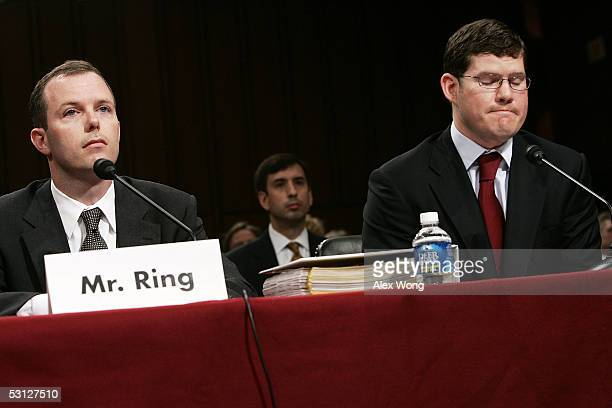 Kevin Ring and Shawn Vasell former associates of Jack Abramoff attend a hearing on lobbying practices involving Indian tribes before the Senate...