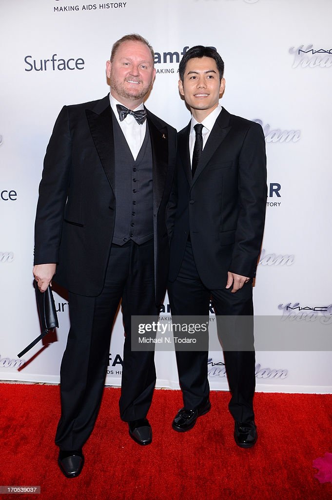 Kevin Robert Frost and Nikom Wongtee attend the 4th Annual amfAR Inspiration Gala New York at The Plaza Hotel on June 13, 2013 in New York City.