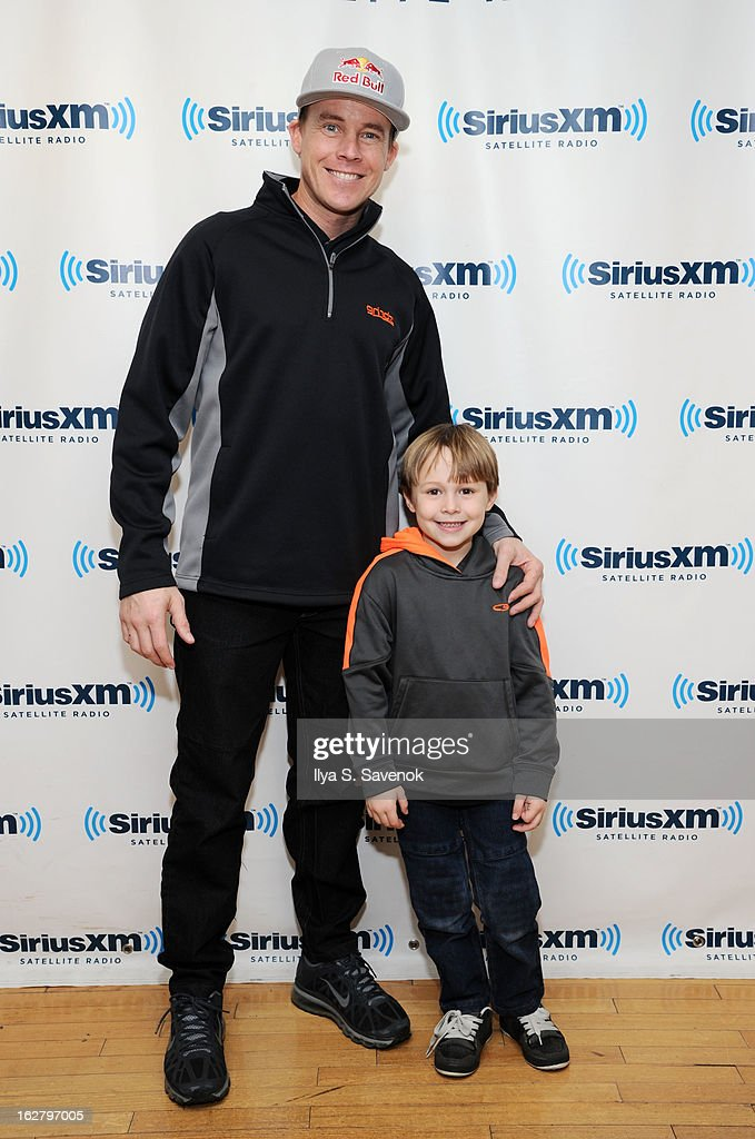 Kevin Robinson and son Kevin Robinson visit the SiriusXM Studios on February 27, 2013 in New York City.