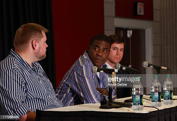 Kevin Rogers Tracy Morgan and Herndon Graddick attend the GLAAD press conference featuring Tracy Morgan's apology for antigay remarks at the...