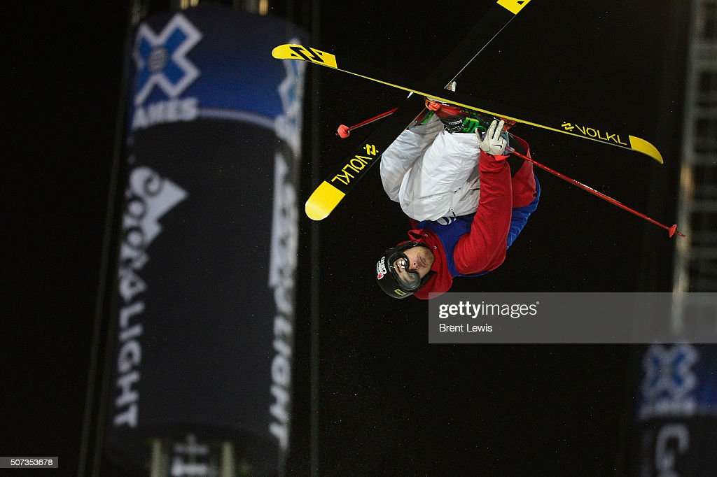 <a gi-track='captionPersonalityLinkClicked' href=/galleries/search?phrase=Kevin+Rolland&family=editorial&specificpeople=4840688 ng-click='$event.stopPropagation()'>Kevin Rolland</a> flips on his last jump of his third run during the finals of men's ski halfpipe at Winter X Games 2016 at Buttermilk Mountain on January 28, 2016 in Aspen, Colorado. <a gi-track='captionPersonalityLinkClicked' href=/galleries/search?phrase=Kevin+Rolland&family=editorial&specificpeople=4840688 ng-click='$event.stopPropagation()'>Kevin Rolland</a> took the gold in the event with a score of 93.33 with the win coming after his final run.