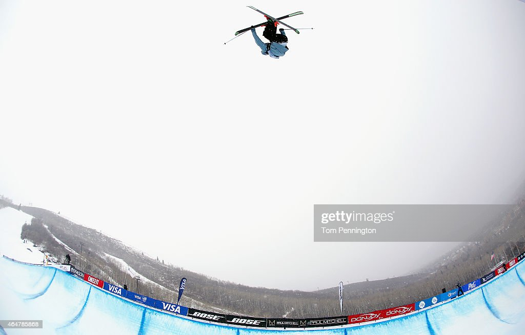 <a gi-track='captionPersonalityLinkClicked' href=/galleries/search?phrase=Kevin+Rolland&family=editorial&specificpeople=4840688 ng-click='$event.stopPropagation()'>Kevin Rolland</a> of France competes during the FIS Freeskiing World Cup 2015 Men's Freeskiing Halfpipe Final during the U.S. Grand Prix at Park City Mountain on February 28, 2015 in Park City, Utah.