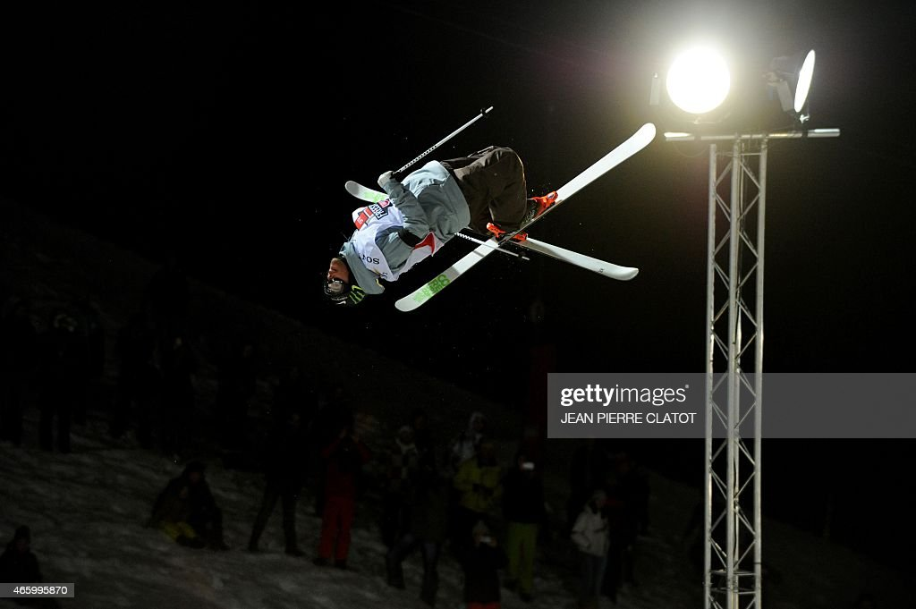 <a gi-track='captionPersonalityLinkClicked' href=/galleries/search?phrase=Kevin+Rolland&family=editorial&specificpeople=4840688 ng-click='$event.stopPropagation()'>Kevin Rolland</a> of France competes during the men's ski superpipe final in the World Cup comptetition on March 12, 2015 in Tignes, French Alps, Savoie ski resort. AFP PHOTO / JEAN-PIERRE CLATOT