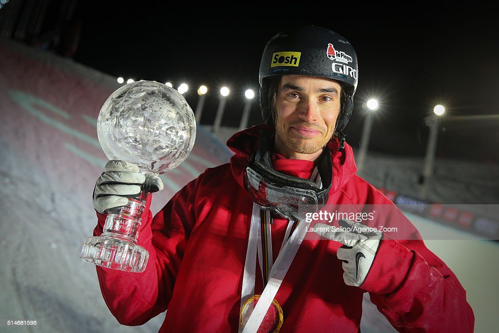 <a gi-track='captionPersonalityLinkClicked' href=/galleries/search?phrase=Kevin+Rolland&family=editorial&specificpeople=4840688 ng-click='$event.stopPropagation()'>Kevin Rolland</a> of France during the FIS Freestyle Ski World Cup, Men's and Women's Halfpipe Final on March 10, 2016 in Tignes, France.