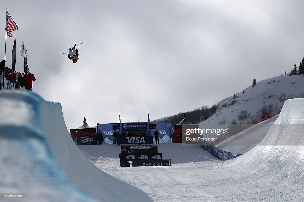 <a gi-track='captionPersonalityLinkClicked' href=/galleries/search?phrase=Kevin+Rolland&family=editorial&specificpeople=4840688 ng-click='$event.stopPropagation()'>Kevin Rolland</a> of France skis to third place in the men's FIS Freestyle Ski Halfpipe World Cup at the 2016 Visa U.S. Freeskiing Park City Grand Prix on February 5, 2016 in Park City, Utah.