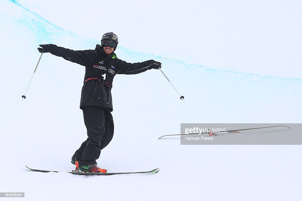 <a gi-track='captionPersonalityLinkClicked' href=/galleries/search?phrase=Kevin+Rolland&family=editorial&specificpeople=4840688 ng-click='$event.stopPropagation()'>Kevin Rolland</a> of France smiles following victory in the FIS Freestyle Ski World Cup Halfpipe Finals during the Winter Games NZ at Cardrona Alpine Resort on August 23, 2015 in Wanaka, New Zealand.