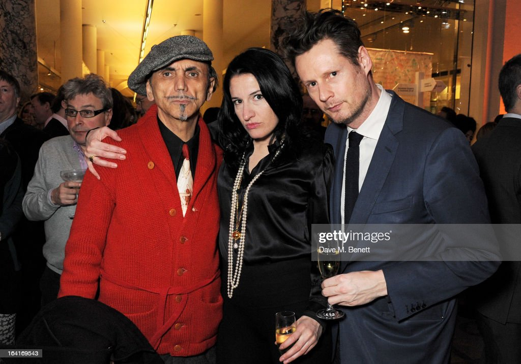 Kevin Rowland, Amy Molyneaux and Percy Parker attend the private view for the 'David Bowie Is' exhibition in partnership with Gucci and Sennheiser at the Victoria and Albert Museum on March 20, 2013 in London, England.