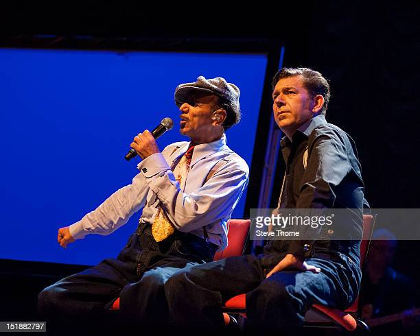 Kevin Rowland and Pete Williams of Dexys perform on stage at Symphony Hall on September 12 2012 in Birmingham United Kingdom