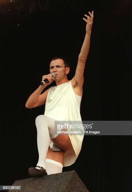 Kevin Rowland formerly singer with the band Dexy's Midnight Runners perfotms on stage at the Reading Festival