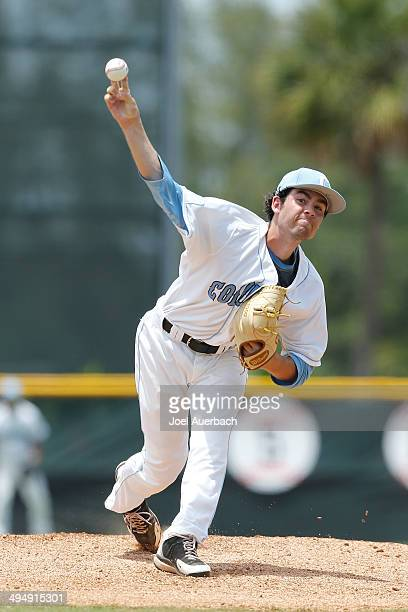 Kevin Roy of the Columbia Lions throws the ball against the BethuneCookman Wildcats during the Coral Gables Regional at the NCAA Baseball Tournament...