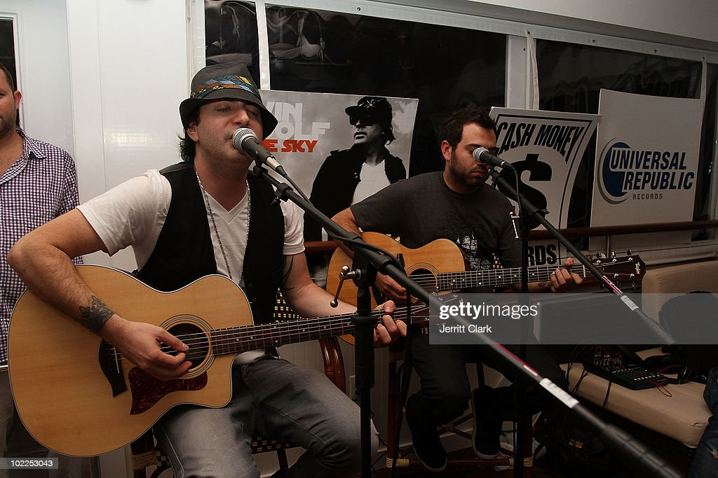 Kevin Rudolf performs at an event celebrating Kevin Rudolf's new album 'To The Sky' at The Boathouse on June 19 2010 in East Hampton New York
