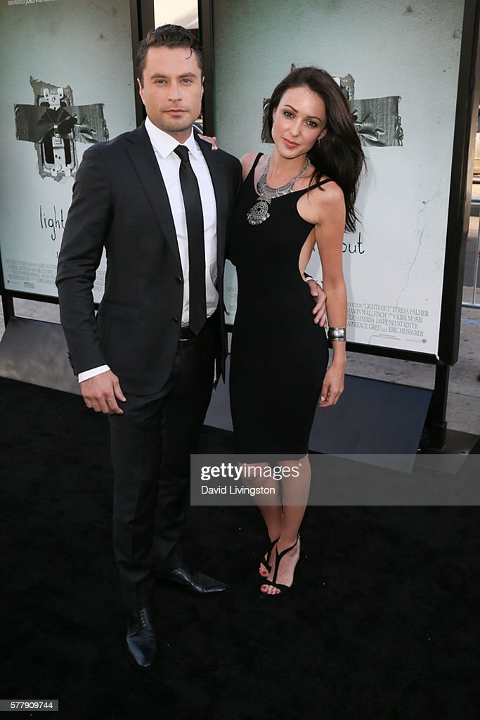 Kevin Ryan and Karen Hassan arrive at the premiere of New Line Cinema's 'Lights Out' at the TCL Chinese Theatre on July 19 2016 in Hollywood...