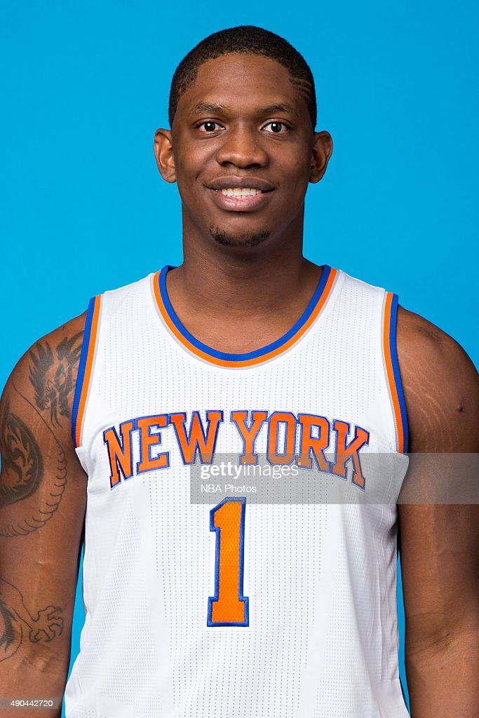Kevin Seraphin #1 of the New York Knicks poses for a head shot at media day at the MSG Training Facility in Greenburgh, New York on September 28, 2015.