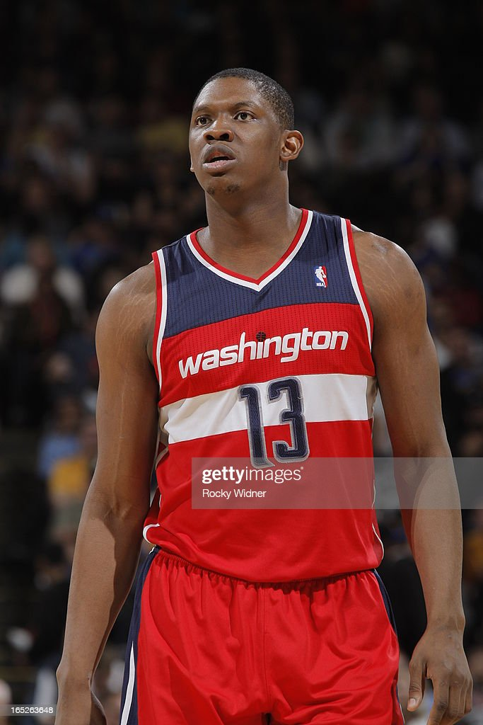 <a gi-track='captionPersonalityLinkClicked' href=/galleries/search?phrase=Kevin+Seraphin&family=editorial&specificpeople=6474998 ng-click='$event.stopPropagation()'>Kevin Seraphin</a> #13 of the Washington Wizards against the Golden State Warriors on March 23, 2013 at Oracle Arena in Oakland, California.
