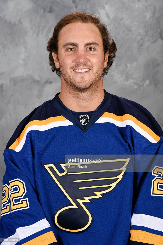 Kevin Shattenkirk of the St Louis Blues poses for his official headshot for the 20152016 season on September 17 2015 in St Louis Missouri