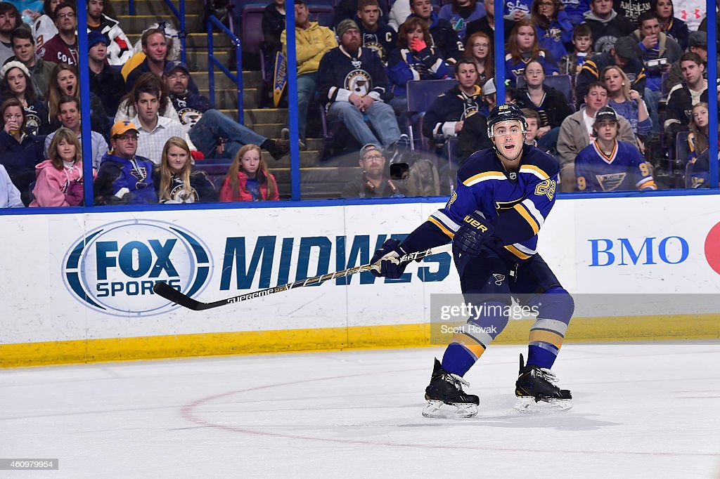 Kevin Shattenkirk of the St Louis Blues skates against the Colorado Avalanche on December 29 2014 at Scottrade Center in St Louis Missouri