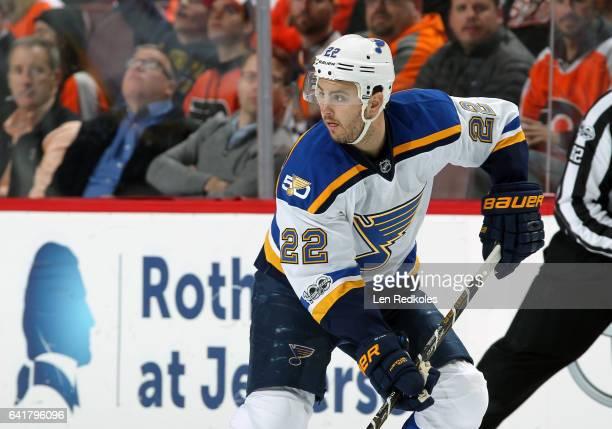 Kevin Shattenkirk of the St Louis Blues skates against the Philadelphia Flyers on February 6 2017 at the Wells Fargo Center in Philadelphia...