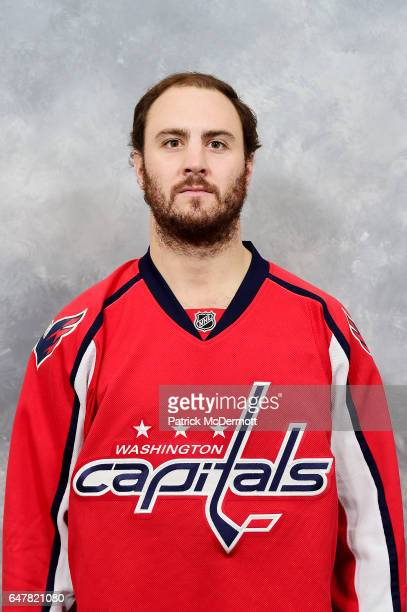 Kevin Shattenkirk of the Washington Capitals poses for his official headshot for the 20162017 season before an NHL game against the New Jersey Devils...
