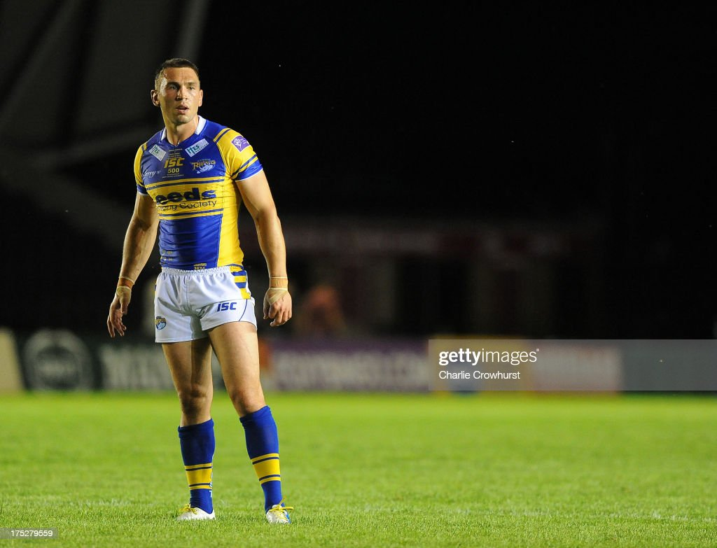 <a gi-track='captionPersonalityLinkClicked' href=/galleries/search?phrase=Kevin+Sinfield&family=editorial&specificpeople=240224 ng-click='$event.stopPropagation()'>Kevin Sinfield</a> of Leeds Rhinos looks on during the Super League match between London Broncos and Leeds Rhinos at Twickenham Stoop on August 01, 2013 in London, England.