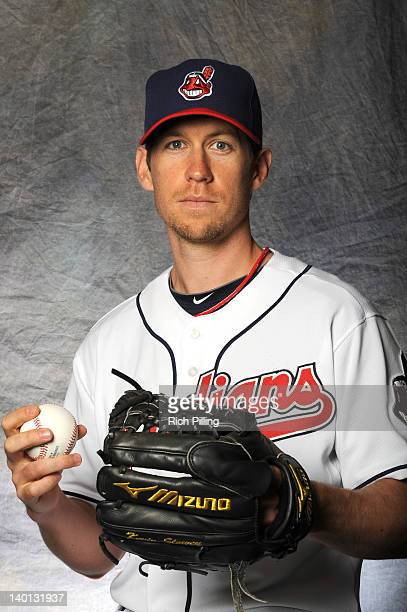Kevin Slowey of the Cleveland Indians poses for a portrait during a photo day at Goodyear Ballpark on February 28 2012 in Goodyear Arizona