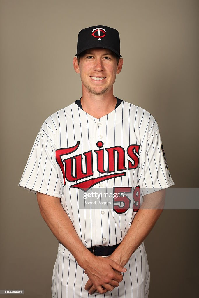 <a gi-track='captionPersonalityLinkClicked' href=/galleries/search?phrase=Kevin+Slowey&family=editorial&specificpeople=4175279 ng-click='$event.stopPropagation()'>Kevin Slowey</a> #59 of the Minnesota Twins poses during Photo Day on Friday, February 25, 2011 at Hammond Stadium in Fort Myers, Florida.