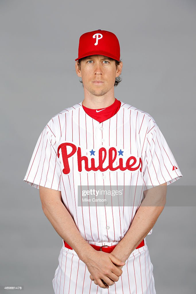 <a gi-track='captionPersonalityLinkClicked' href=/galleries/search?phrase=Kevin+Slowey&family=editorial&specificpeople=4175279 ng-click='$event.stopPropagation()'>Kevin Slowey</a> #59 of the Philadelphia Phillies poses during Photo Day on Friday, February 27, 2015 at Bright House Field in Clearwater, Florida.