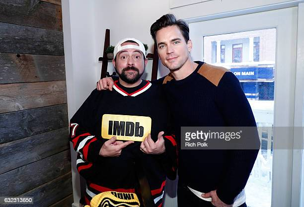 Kevin Smith and actor Matt Bomer of 'Walking Out' attend The IMDb Studio featuring the Filmmaker Discovery Lounge presented by Amazon Video Direct...