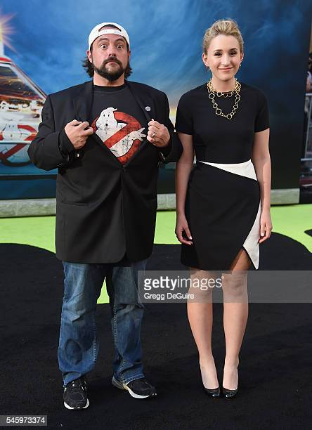 Kevin Smith and daughter Harley Quinn Smith arrive at the premiere of Sony Pictures' 'Ghostbusters' at TCL Chinese Theatre on July 9 2016 in...