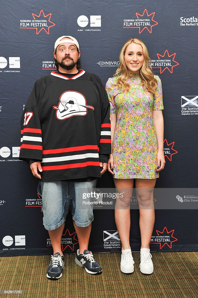 Kevin Smith and Harley Quinn Smith attend a photocall during the 70th Edinburgh International Film Festival at The Howard Hotel on June 25, 2016 in Edinburgh, Scotland.