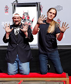 Kevin Smith And Jason Mewes Hands And Footprint...