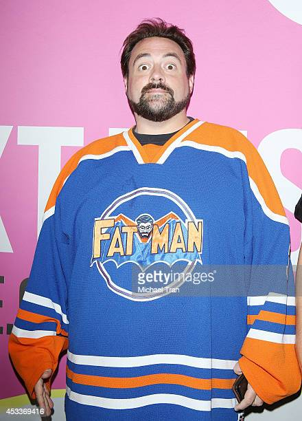 Kevin Smith arrives at the Los Angeles Premiere of 'Life After Beth' held during the 2014 Sundance NextFest at The Theatre at Ace Hotel Downtown LA...