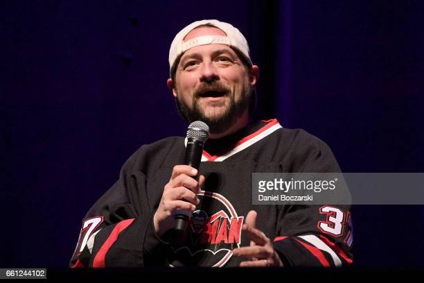 Kevin Smith attends the 'Jay and Silent Bob Get Old' podcast recording at The Vic Theater on March 30 2017 in Chicago Illinois