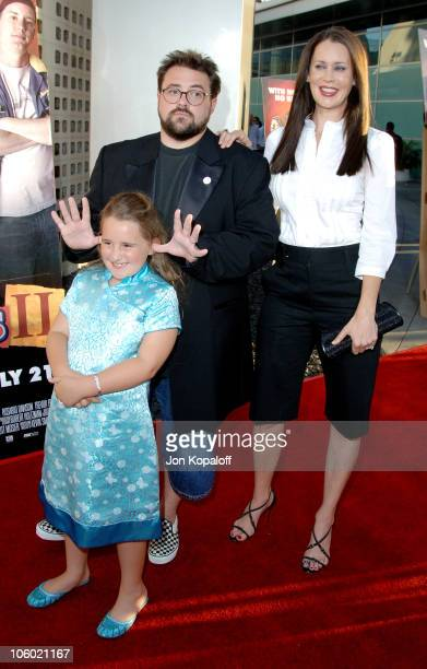 Kevin Smith daughter Harley and wife Jennifer Schwalbach