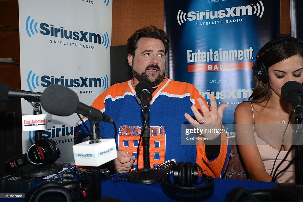 <a gi-track='captionPersonalityLinkClicked' href=/galleries/search?phrase=Kevin+Smith+-+Film+Director&family=editorial&specificpeople=5102286 ng-click='$event.stopPropagation()'>Kevin Smith</a> is interviewed on SiriusXM's Entertainment Weekly Radio channel from Comic-Con 2014 at The Hard Rock Hotel on July 25, 2014 in San Diego, California.