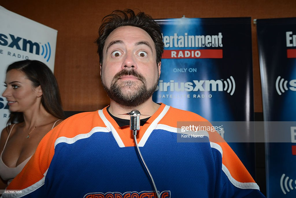 Kevin Smith poses after being nterviewed on SiriusXM's Entertainment Weekly Radio channel from Comic-Con 2014 at The Hard Rock Hotel on July 25, 2014 in San Diego, California.
