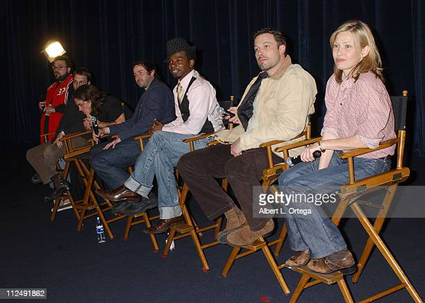 Kevin Smith Scott Mosier Jason Mewes Jason Lee Dwight Ewell Ben Affleck and Joey Lauren Adams