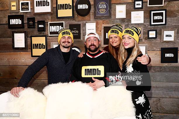 Kevin Smith with actors Jason Ritter Marianna Palka and Jaime King of 'Bitch' at The IMDb Studio featuring the Filmmaker Discovery Lounge presented...