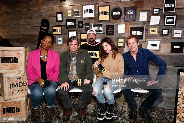 Kevin Smith with actors Lily Mojekwu Griffin Dunne Kathryn Hahn and Kevin Bacon of 'I Love Dick' attend The IMDb Studio featuring the Filmmaker...