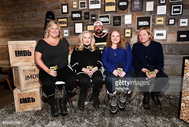 Kevin Smith with actresses Bridget Everett Cathy Moriarty Danielle Macdonald and director Geremy Jasper of ''Patti Cake$' at The IMDb Studio...