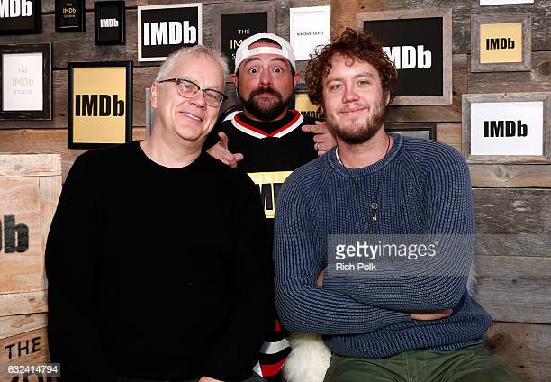 Kevin Smith with director Tim Robbins and actor Jack Henry Robbins of 'Hot Winter' at The IMDb Studio featuring the Filmmaker Discovery Lounge...