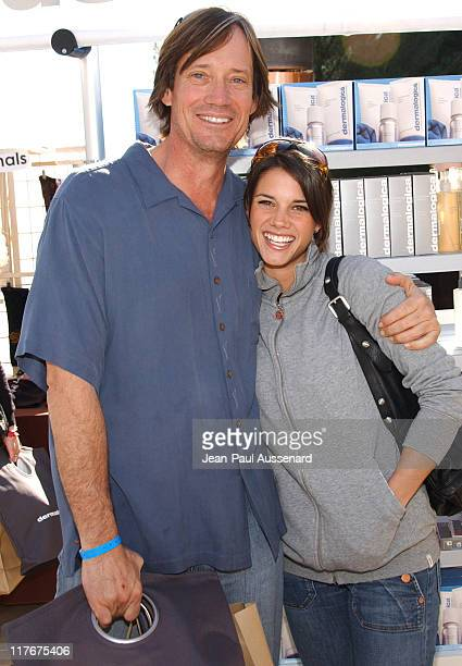 Kevin Sorbo and Missy Peregrym at Dermalogica during 2007 Silver Spoon Golden Globes Suite Day 2 in Los Angeles California United States Photo by...