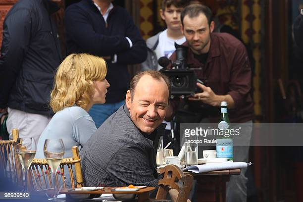 Kevin Spacey and Cate Blanchett are seen while filming for IWC on May 8 2010 in Portofino Italy