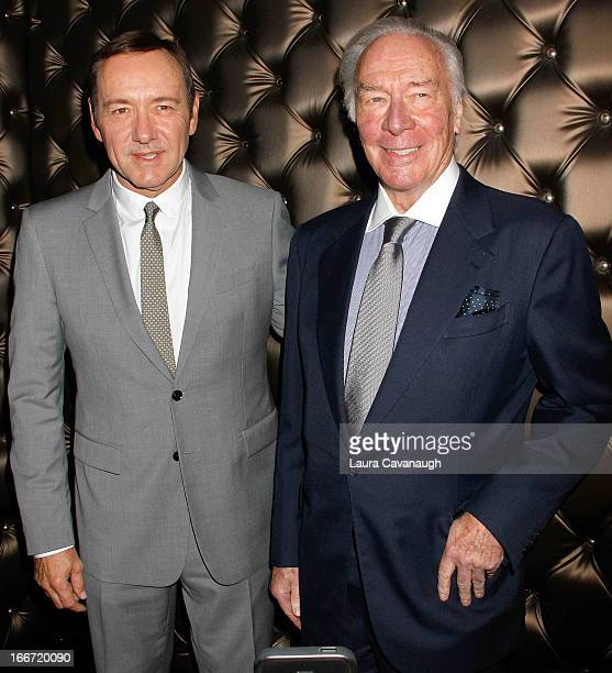 Kevin Spacey and Christopher Plummer attend 13th Annual Monte Cristo Awards at The Edison Ballroom on April 15 2013 in New York City