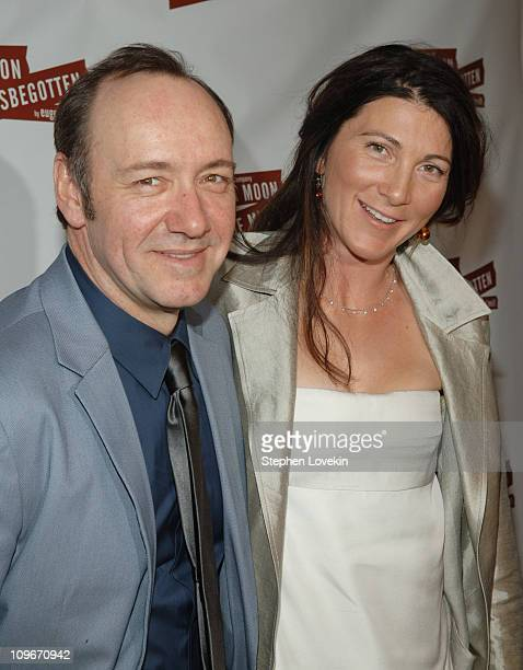 Kevin Spacey and Eve Best during Opening Night of 'A Moon for the Misbegotten' After Party Press Room at 230 5th Avenue in New York City NY United...