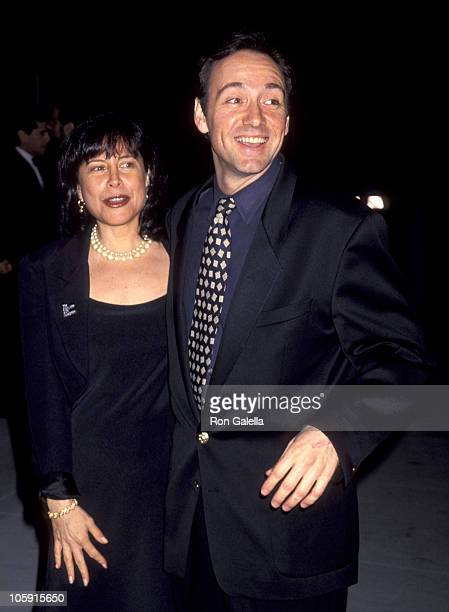 Kevin Spacey and guest during 1994 Vanity Fair Oscar Party Arrivals at Morton's Restaurant in West Hollywood California United States