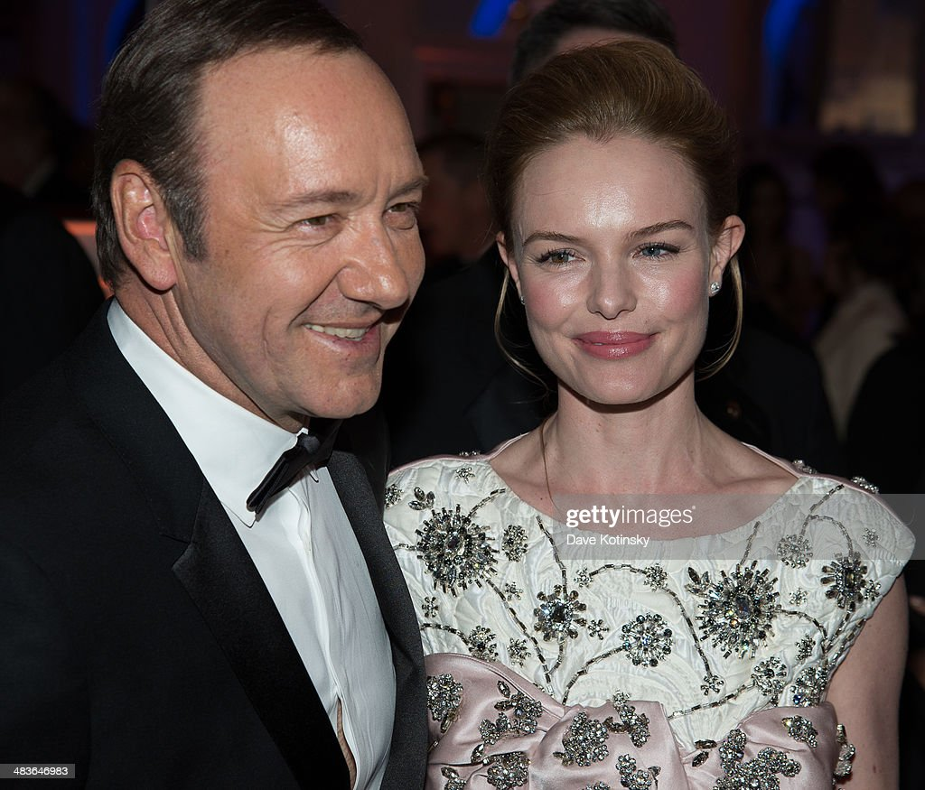 Kevin Spacey and Kate Bosworth attend the Museum of the Moving Image 28th Annual Salute Honoring Kevin Spacey on April 9, 2014 in New York City.