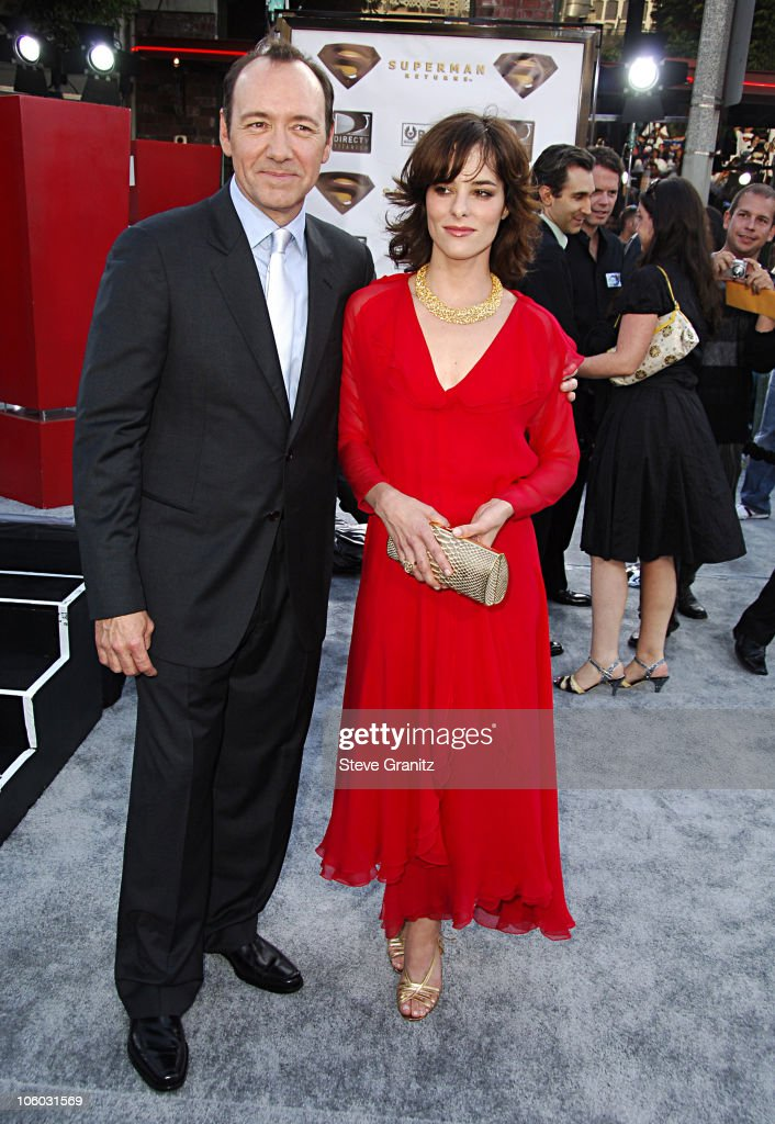 Kevin Spacey and Parker Posey during World Premiere of 'Superman Returns' Arrivals at Mann's Village and Bruin Theaters in Westwood California United...