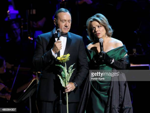 Kevin Spacey and Renee Fleming perform onstage at The 2014 Revlon Concert For The Rainforest Fund at Carnegie Hall on April 17 2014 in New York City